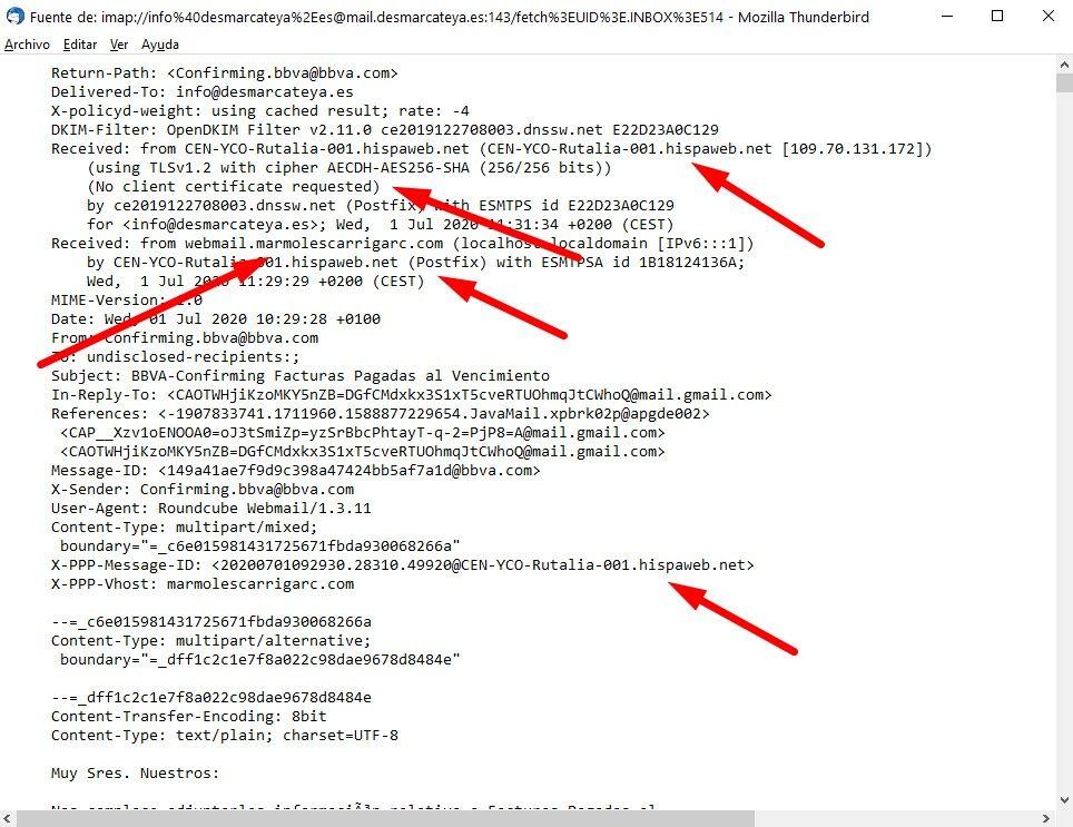 ¡ATENCIÓN! Intento de phishing - BBVA